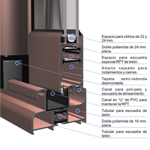Correderas aluminos ernesto - Aluminio con rotura de puente termico ...
