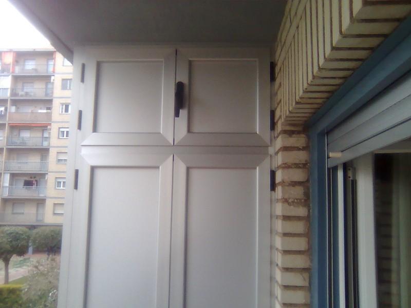 Armarios de aluminio para terrazas armario de terraza hasta el techo with armarios de aluminio - Armario balcon ...